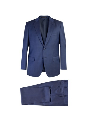 Abdullah Kiğılı Takım Elbise Mavi